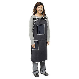 "Denim Apron With 2 Pockets, 28"" x 36"" - Pkg Qty 12"