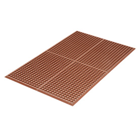 Grease Proof 3x10 1/2 Thick Drainage Mat Red