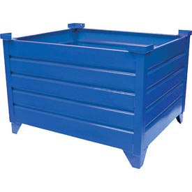 "Topper Stackable Steel Container 51003B Solid, 42""L x 42""W x 18""H, Blue"