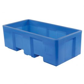 "Dandux Forkliftable Single Wall Skid Bulk Container 512175 - 62"" x 31"" x 21"", Blue"