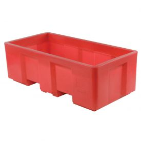 "Dandux Forkliftable Single Wall Skid Bulk Container 51-2175RD - 62"" x 31"" x 21"", Red"