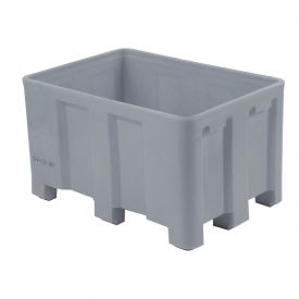 """Dandux Forkliftable Double Wall Skid Bulk Container 512110A - 36"""" x 26"""" x 16-1/2"""", Gray"""