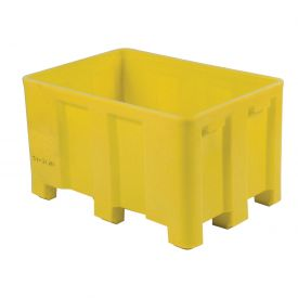 """Dandux Forkliftable Double Wall Skid Bulk Container 512110Y - 36"""" x 26"""" x 16-1/2"""", Yellow"""