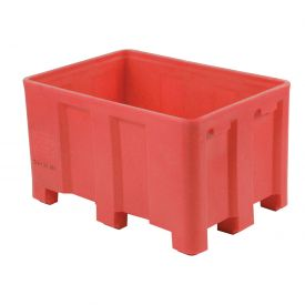 "Dandux Forkliftable Double Wall Skid Bulk Container 512120R - 36"" x 26"" x 22"", Red"