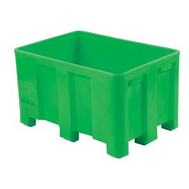 "Dandux Forkliftable Double Wall Skid Bulk Container 51-2126GREEN - 54"" x 44"" x 31"", Green"
