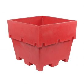 """Dandux Pallet Container 51-2040R - 48""""L x 44""""W x 40""""H Double Wall, Red"""