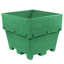 "Dandux Pallet Container 512037E - 45""L x 45""W x 39""H Single Wall, Green"