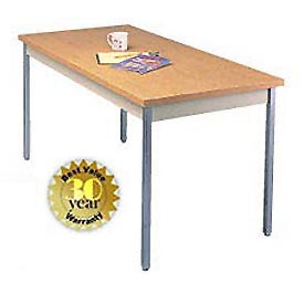 "Utility Table - 30""W X 60""L - Oak with Square Edge"