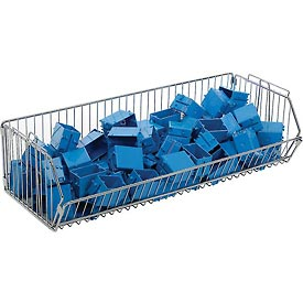 "Stackable Wire Storage Bin, 36""W x 14""D x 9""H"