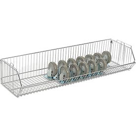 "Stackable Wire Storage Bin, 48""W x 14""D x 9""H"