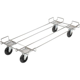"Wire Rack Accessory-Dolly Base With 5"" Poly Swivel Casters"