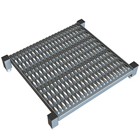 "24 X 24 Inch Adjustable Height Steel Work Platform - 5""H To 8""H"