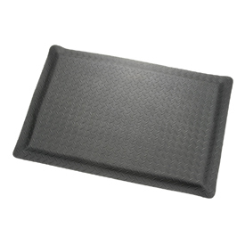 "Diamond Plate Ergonomic Mat 15/16"" Thick 48"" Wide Black Up To 75ft"