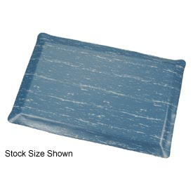 Marbleized Top Ergonomic Mat 3x60 Foot Blue
