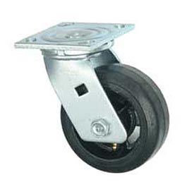 "Faultless Swivel Plate Caster 1418-6 6"" Mold-On Rubber Wheel"