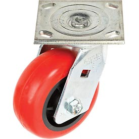 "Faultless Swivel Plate Caster 1498-5 5"" Polyurethane Wheel"