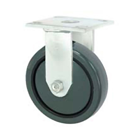 "Faultless Rigid Plate Caster 3498-8 8"" Polyurethane Wheel"