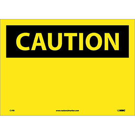 "Safety Signs - Caution Blank - Vinyl 10""H X 14""W"