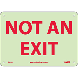 Glo-Brite Not An Exit Sign - Rigid Plastic