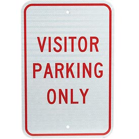 Aluminum Sign - Visitor Parking Only - .08mm Thick