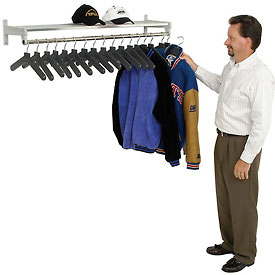 Garment Wall Rack Includes 18 Hangers