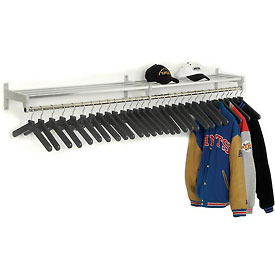 Garment Wall Rack Includes 30 Hangers