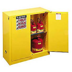 Justrite Flammable Cabinet With Self Close Double Door 30 Gallon