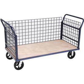 Euro Truck With 3 Wire Sides & Wood Deck 60 x 30 2400 Lb. Capacity