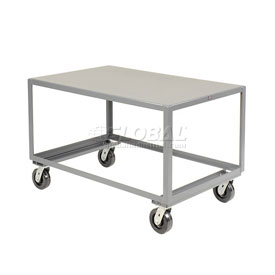 Jamco All Welded Portable Steel Table LV348 1 Shelf 48x30 3000 Lb. Capacity
