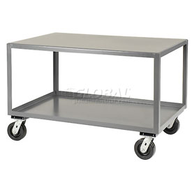 Jamco All Welded Portable Steel Table LX236 2 Shelves 36x24 3000 Lb. Capacity