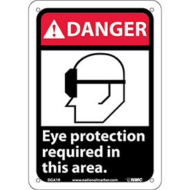 "Graphic Signs - Danger Eye Protection Required - Plastic 7""W X 10""H"