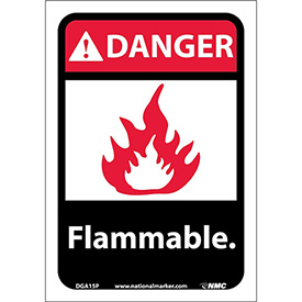"Graphic Signs - Danger Flammable - Vinyl 7""W X 10""H"