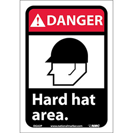 "Graphic Signs - Danger Hard Hat Area - Vinyl 7""W X 10""H"