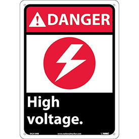 "Graphic Signs - Danger High Voltage - Plastic 10""W X 14""H"