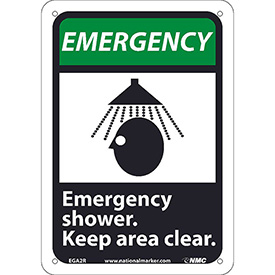 "Graphic Signs - Emergency Shower - Plastic 7""W X 10""H"