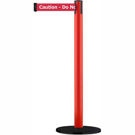 Tensabarrier Red Utility Post 7.5'L BLK/YLW Caution-Do Not Enter Retractable Belt Barrier