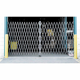 Double Folding Security Gate 16'W x 6-1/2'H