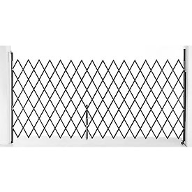 Single Folding Security Gate 7-1/2'W x 6-1/2'H