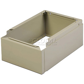 "Tennsco Closed Locker Base CLB-1215 214 - For 12""W X 15""D Locker No Legs 1 Wide, Sand"