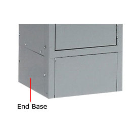 "Tennsco Steel Locker End Base EB-18 02 - For 18""D Locker With 6""H Legs Medium Grey"