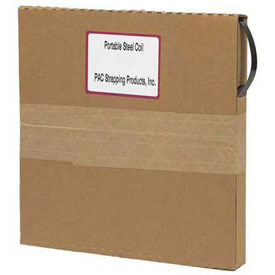 "Portable Steel Strapping, Replacement Coils in Self Dispensing Carton, 1/2"" x .020"" x 200' - Pkg Qty 2"