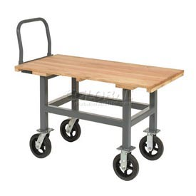 Jamco Work Height Platform Truck WH248 Wood Deck Fixed Height
