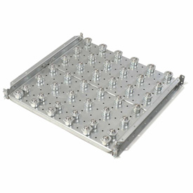 """Omni Metalcraft Ball Transfer Table with 6"""" Centers 1120 Lb. Capacity BTRD3.5-24-6-2-.25"""