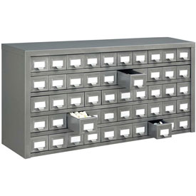 Global™ Steel Drawer Cabinet - 50 Drawers 36x9x17-3/4