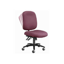 OFM Big and Tall Armless Swivel Task Chair, Fabric, Mid Back, Wine