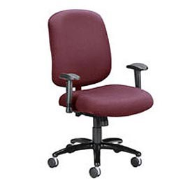 OFM Big and Tall Office Chair with Arms - Fabric - Mid Back - Burgundy