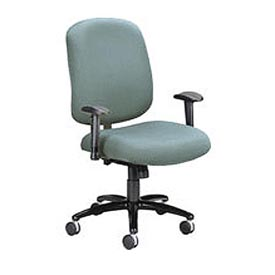 OFM Big and Tall Swivel Task Chair with Arms, Fabric, Mid Back, Gray