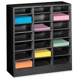 Legal Size 21 Compartment Steel Literature Sorter - Black