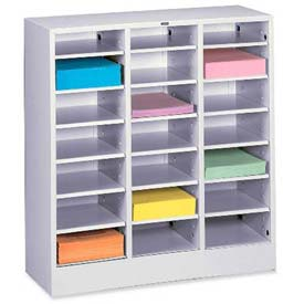 Legal Size 21 Compartment Steel Literature Sorter - Gray