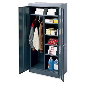 "Edsal Combination Cabinet - 36 x 18 x 72"" - Gray"